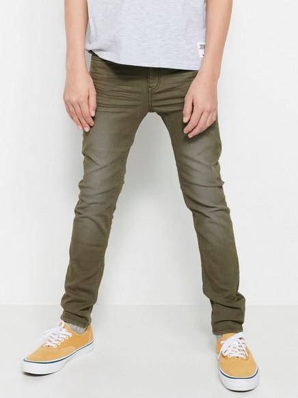 Smale bukser i grønt Kaki