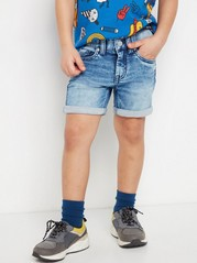 Shorts i jerseydenim med normal passform Blå