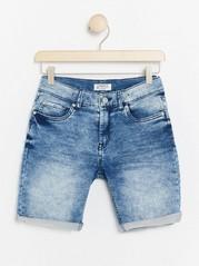 Regular Jersey Jeans Shorts Blue