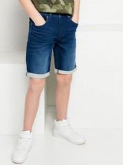 Regular Jersey Jeans Shorts Blue