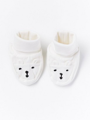 Bačkůrky sobličejem medvídka Bílá