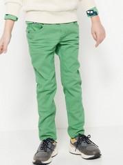 Narrow byxor med resår i midjan Grön