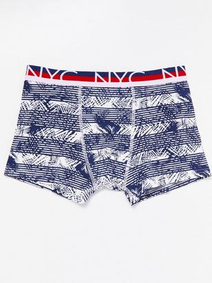 Boxer Shorts with Grafic Print Blue