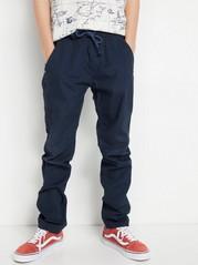 Väljät housut, joissa kapenevat lahkeet Sininen