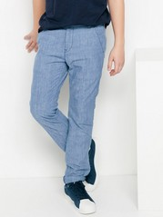 Chambray Trousers Blue