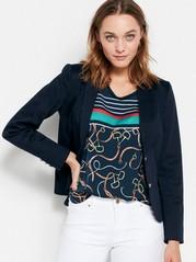 Tummansininen jakku Sininen