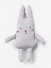 Mjukisdjur kanin Grå