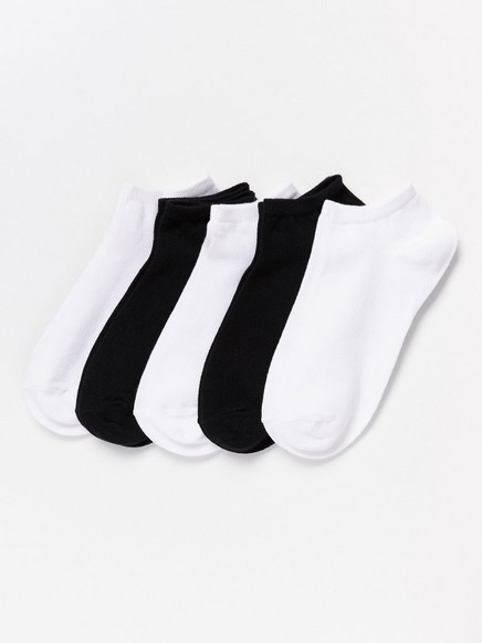 Varrettomat sukat, 5 paria Musta