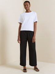 BELLA Relaxed Black Trousers  Black