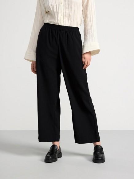 Černé volné kalhoty BELLA Černá