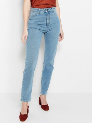 High-waist Light Blue Jeans  Blue