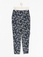AVA mønstret bukse med avsmalnende ben Blå