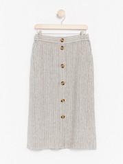 Proužkovaná sukně Běžová