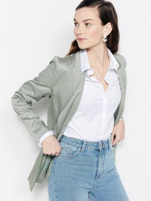 Green Blazer in Lyocell  Green
