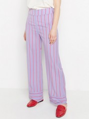 LYKKE Striped Wide Trousers  Lilac