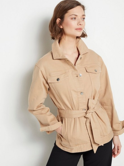 Beige jakke i denim Beige