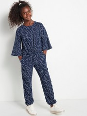 Dotted Jumpsuit Blue