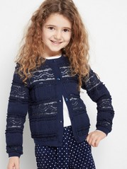 Lace Cardigan Blue