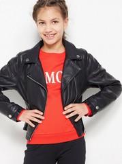 Black Biker Jacket Black