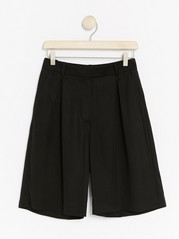 High-waist Modal Shorts  Black