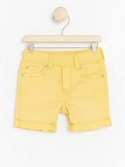 Narrow jersey denim shorts Yellow