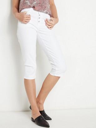 Bílé capri džíny MAIA Bílá