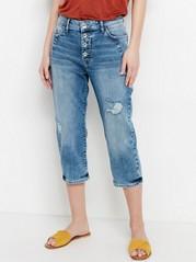 MAIA Tapered Regular Capri Jeans  Blue