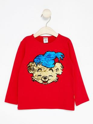 Bamse Top with Reversible Sequins Red