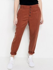 AVA Tapered Trousers in Lyocell  Lilac