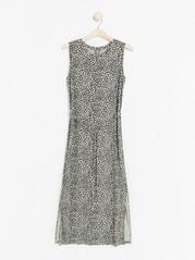 Hihaton mekko lyocell-sekoitetta Beige