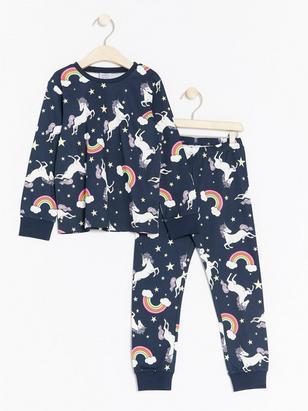 Mönstrad pyjamas Blå