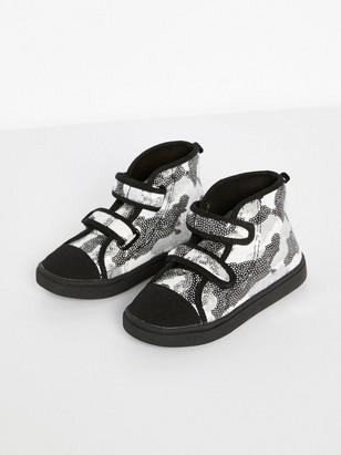 Kengät, joissa paljetteja Musta