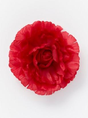 Hårspänne med blomma Röd