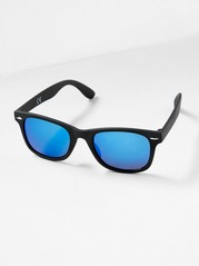 Solglasögon med plastbågar Svart