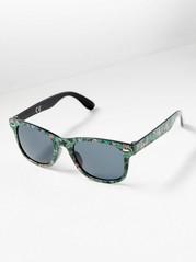 Solbrille med plastramme Grønn