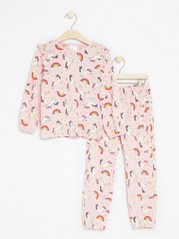 Pyjama Set with Unicorns Pink