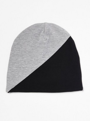 Jersey Cap in Black and Grey Black