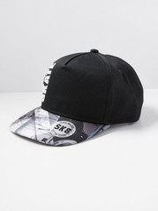 Skate Cap in Black Black