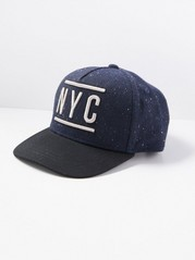 Cap with Flat Peak Blue
