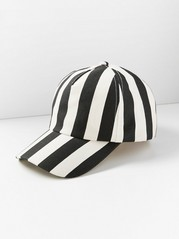 Striped Cap Black