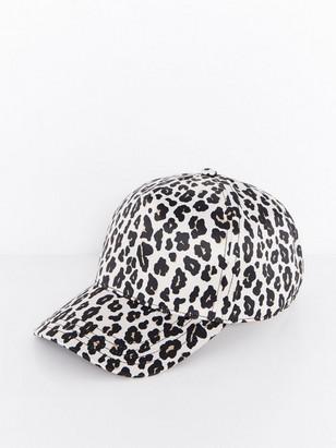 Shiny Leopard Cap Beige