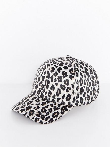 Skinnende leopardkaps Beige