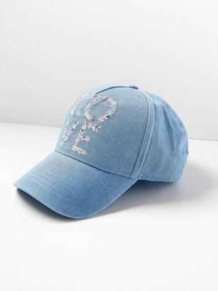 Denim Cap with Embroidery Blue