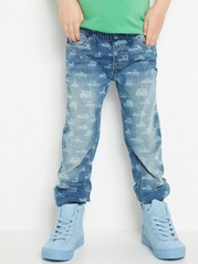 Regular Denim Trousers Blue