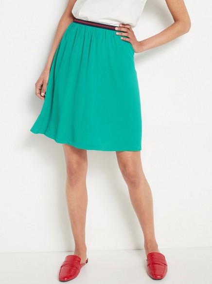 Krátká sukně zviskózy Zelená