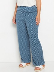 BELLA Patterned Relaxed Trousers  Blue