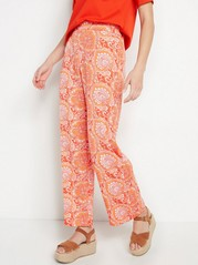 BELLA Patterned Relaxed Trousers  Orange