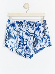 Floral Night Shorts Blue