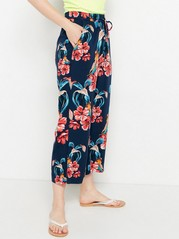 BELLA - Relaxed, Cropped Trousers in Viscose  Blue