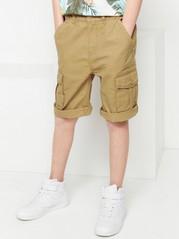 Løs cargo-shorts Beige